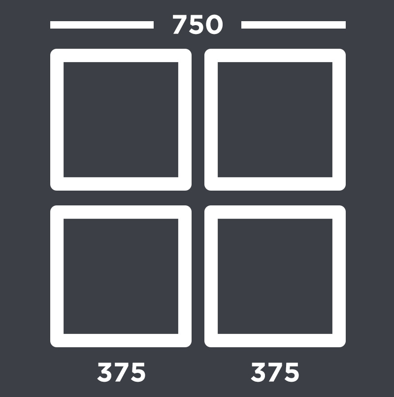 Images in a 2x2 layout